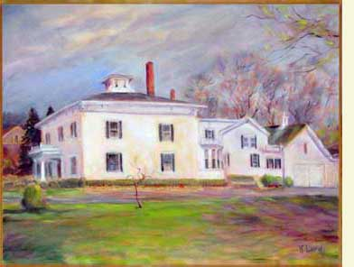 Painting Of Saco Building